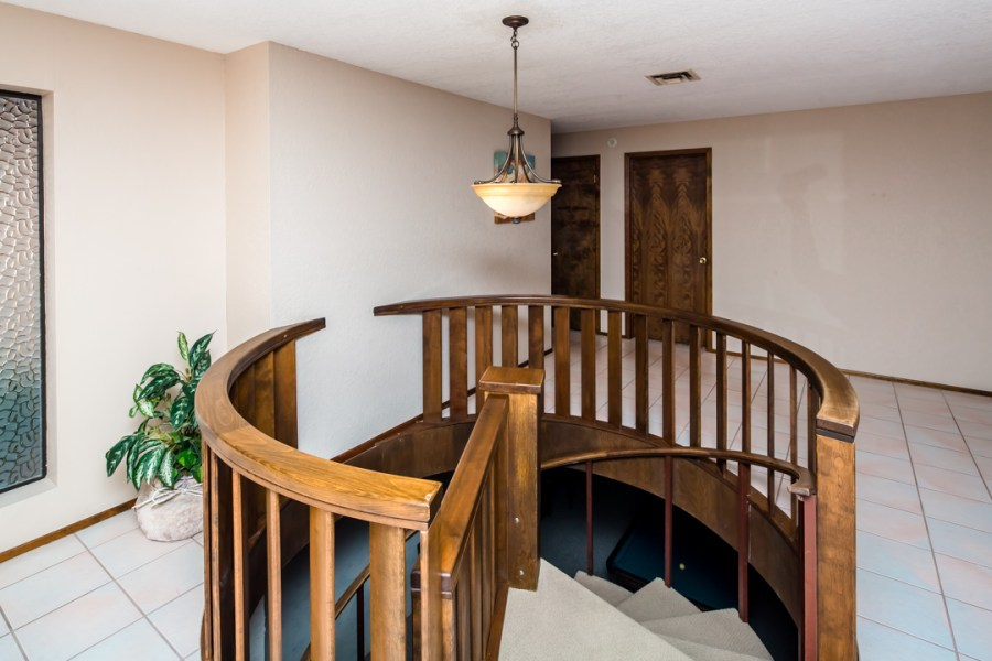 Lakeview Home in Lake Havasu w  Indoor Pool  721 Donner Cir home with spiral staircase