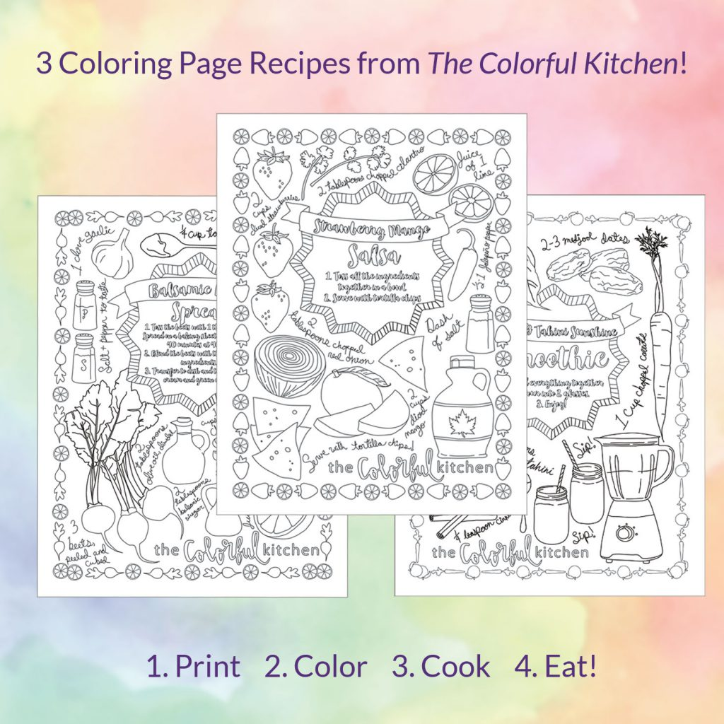 The Colorful Kitchen Recipe Coloring Pages The Colorful Kitchen