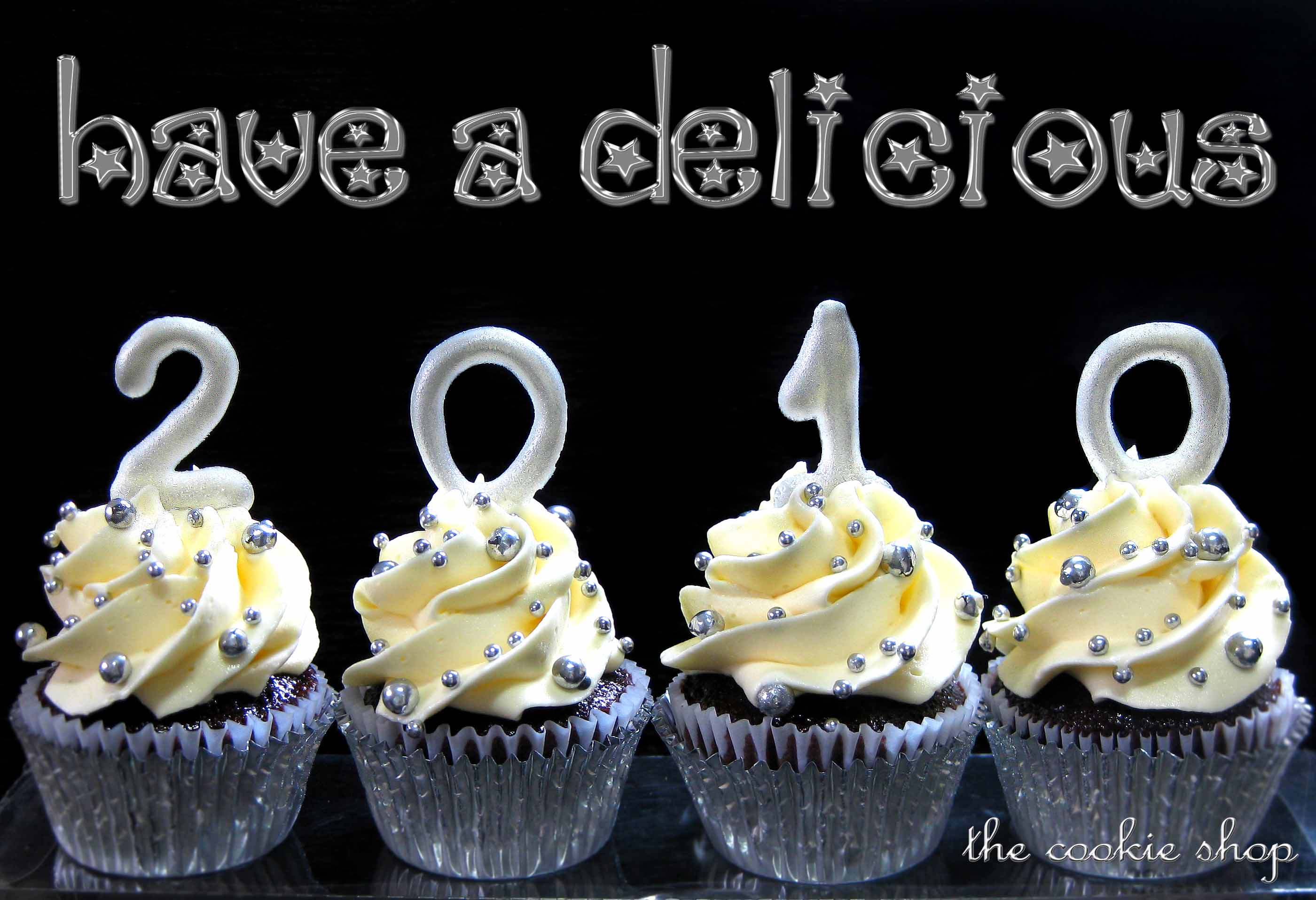 Happy New Year   small batch chocolate cupcakes with white chocolate     To