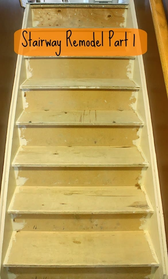 Stairway Remodel Part 1 Ripping Out Old Carpet And Finding | 36 Inch Carpet Stair Treads | Attachable Indoor | Walmart | Basement Stairs | Vanilla Cream | Pet Friendly