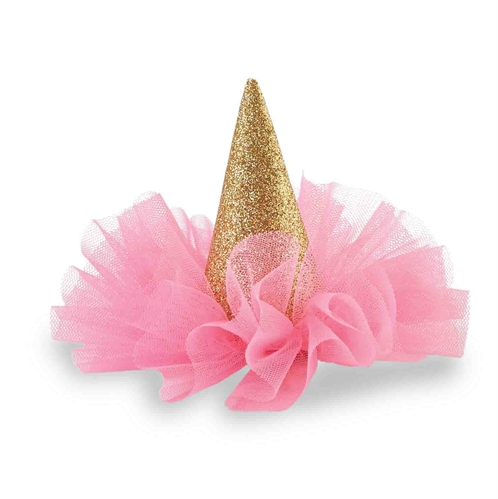 Glitter Party Hat Clip Gold Amp Hot Pink Mud Pie The