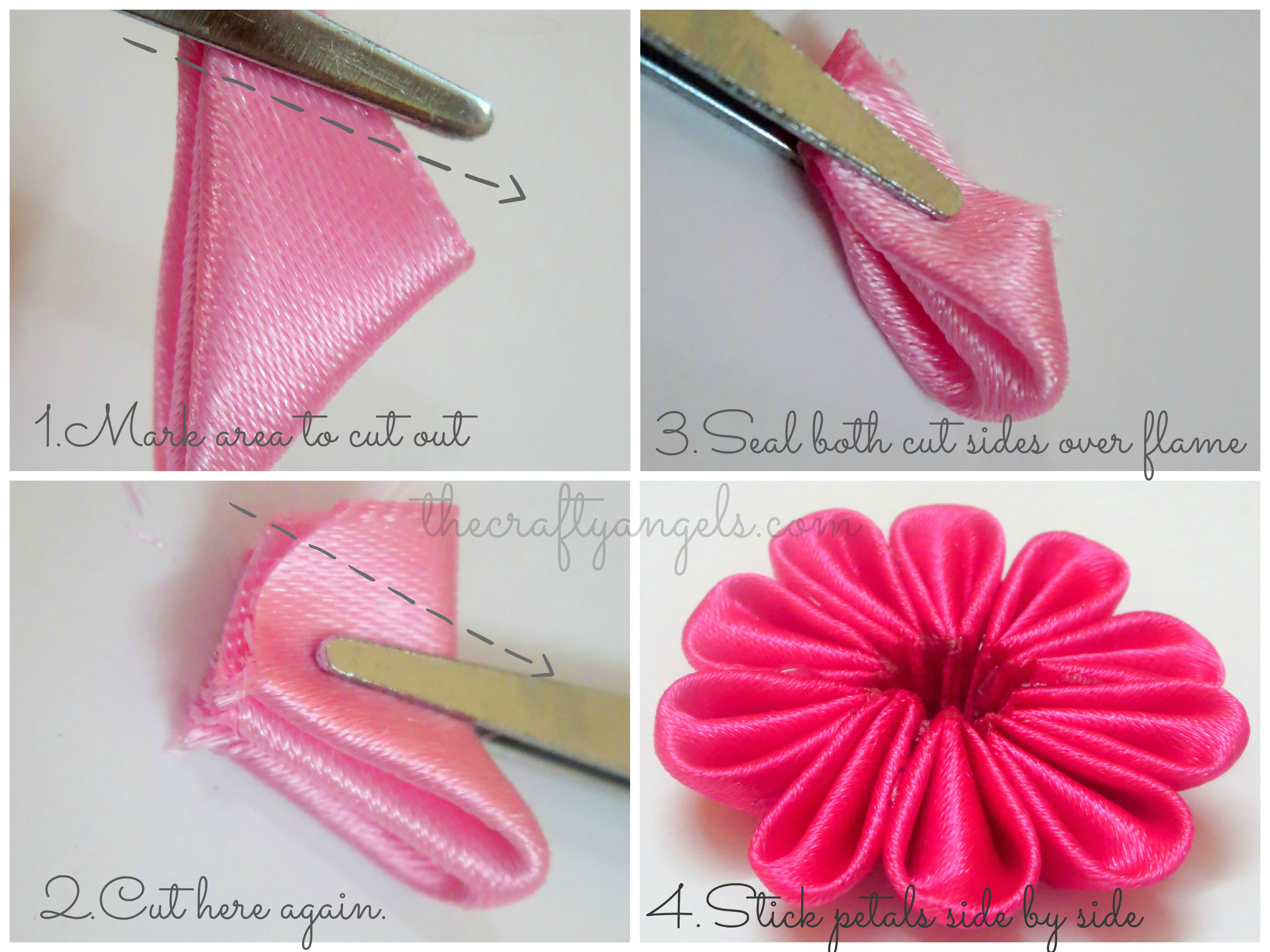 Kanzashi ribbon flower tutorial   Kanzashi ribbon flower tutorial  1
