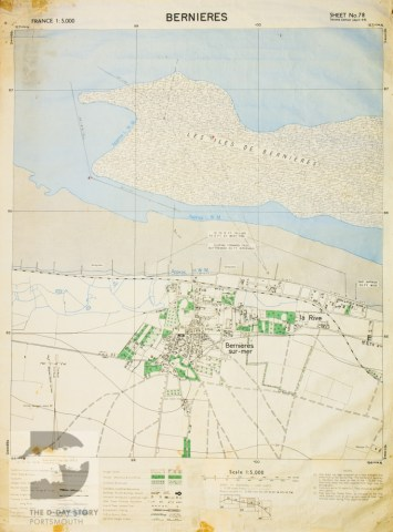 The D Day Story  Portsmouth A map of Bernieres sur Mer  1 5 000 scale  sheet 78