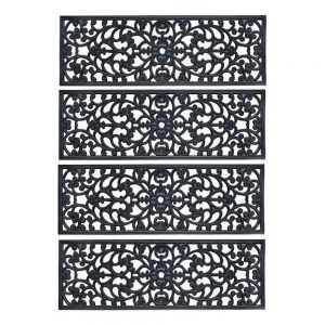 The 10 Best Stair Treads In 2020 In Depth Review   Pure Era Carpet Stair Treads   Self Adhesive Bullnose   Skid Resistant   Stair Railing   Grey   Non Slip