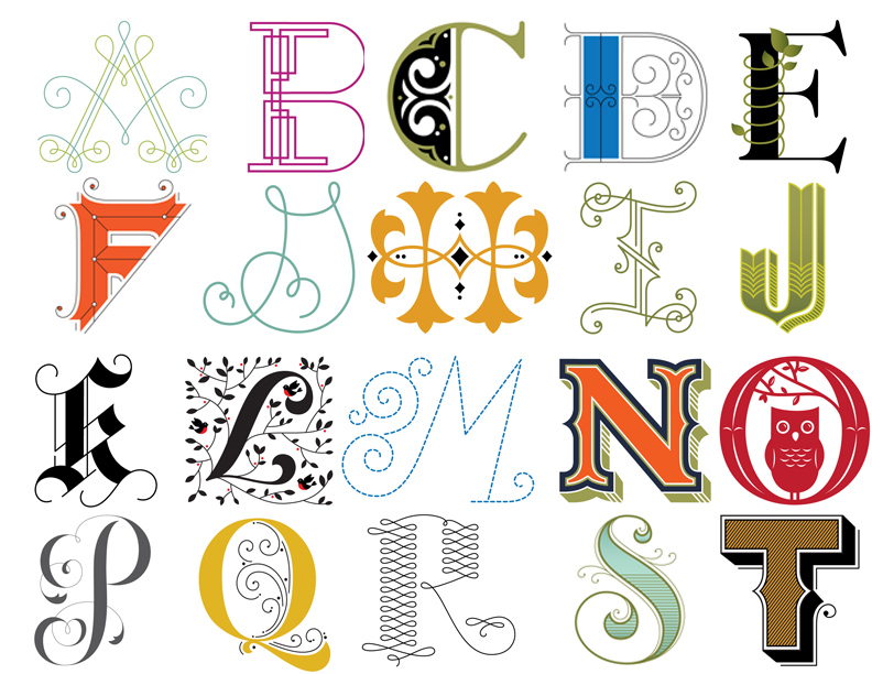 creative alphabet letters - 792×612