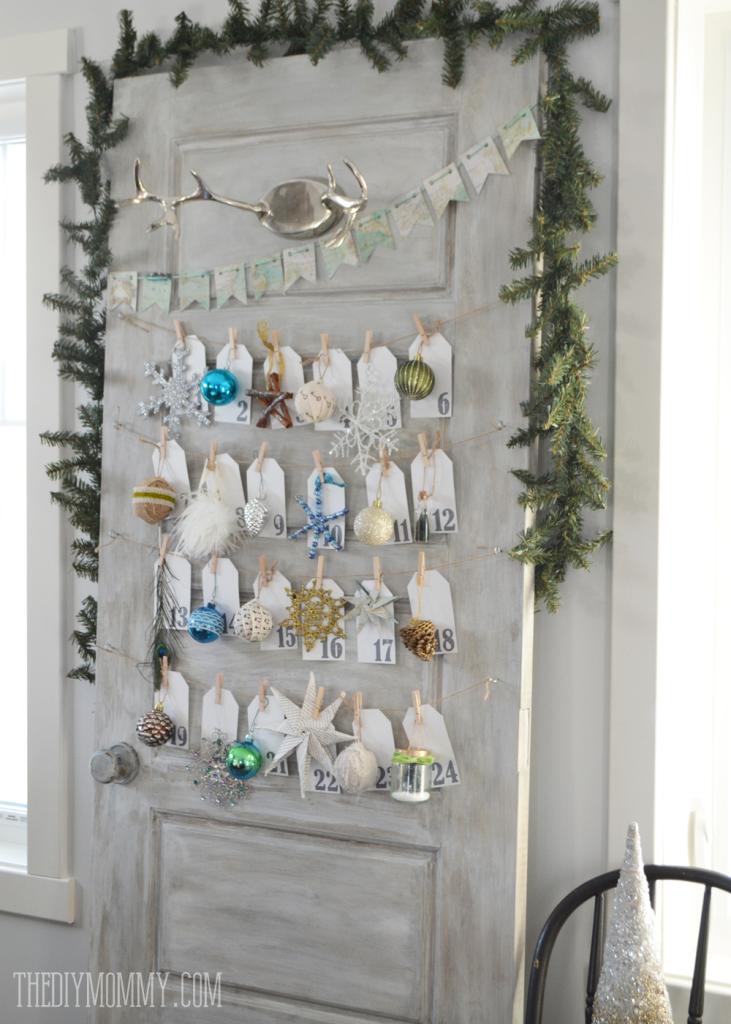 Diy Ornament A Day Christmas Advent Calendar Made From An