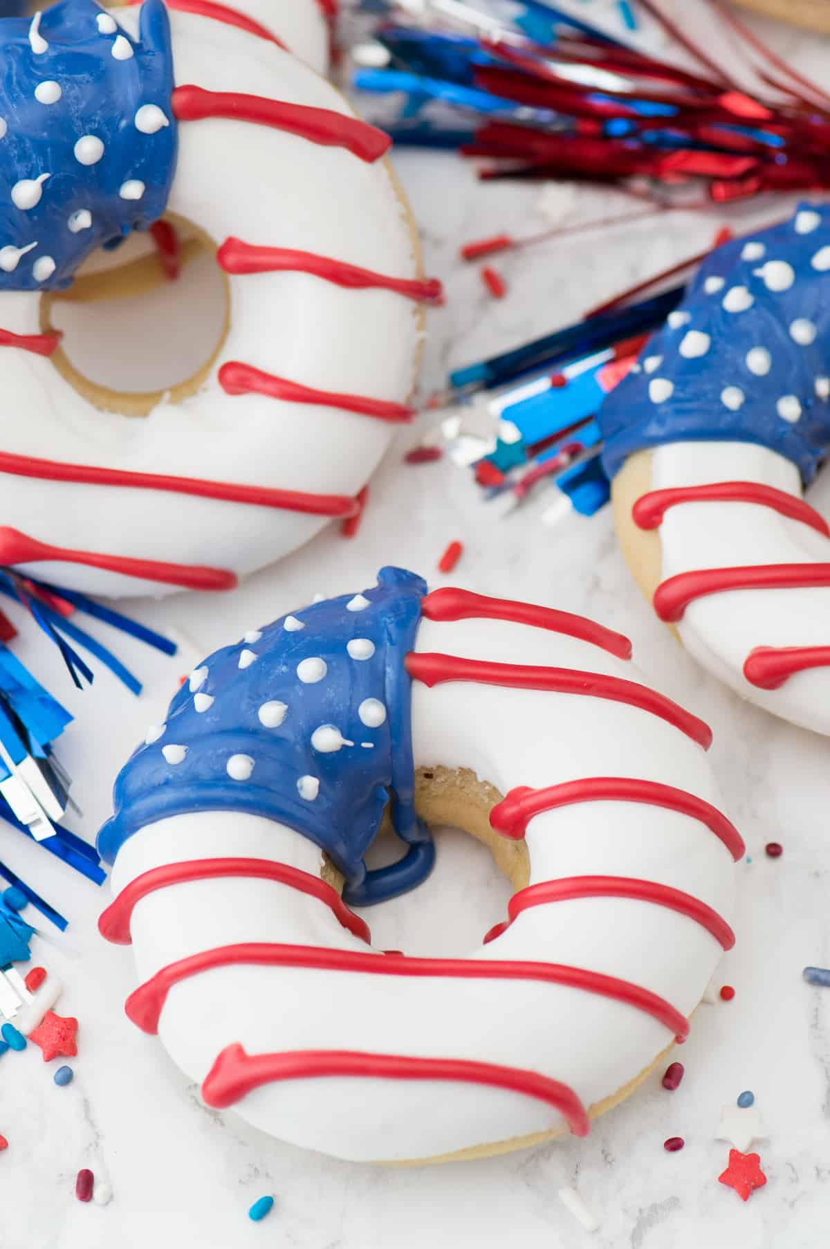 Red White And Blue Donuts