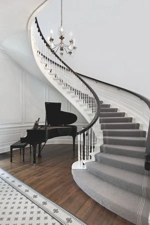 The Best White Paint Shade For Trim And Base Molding The | Grey Banister White Spindles | Silver | Indoor | Pewter | Gloss | Wrought Iron