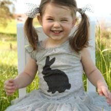 Screenprint or applique a bunny with this free template!