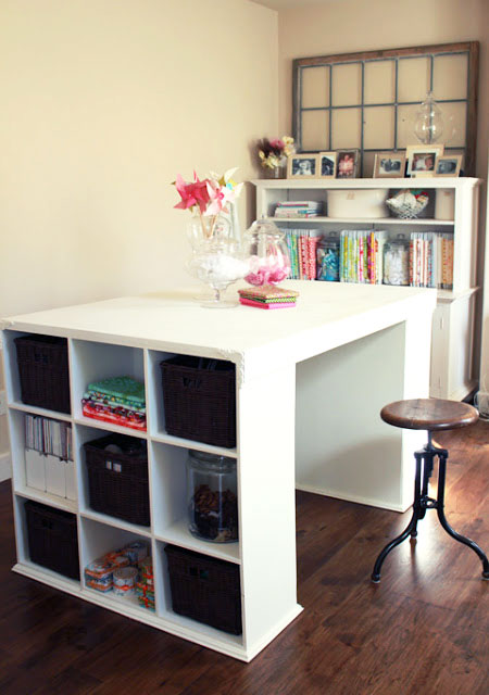 Custom Built Project Table for Craft/Sewing Room