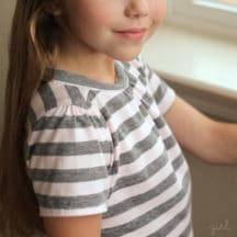 girls sewing knit top