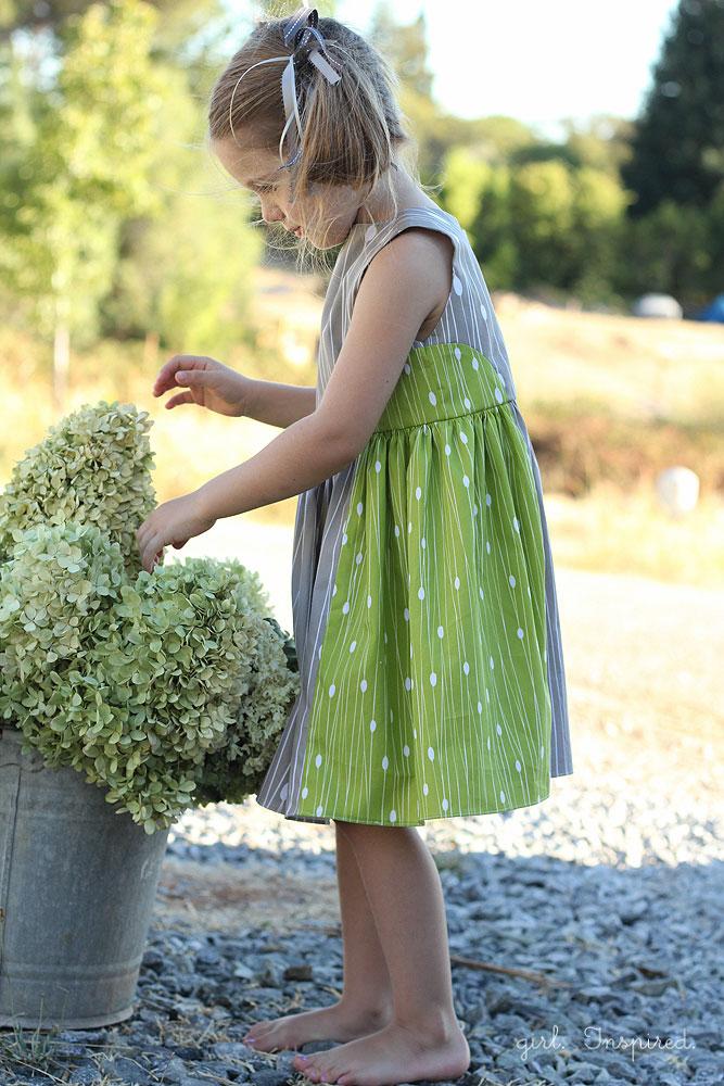 Color Block Dress with Modern Yardage Fabric