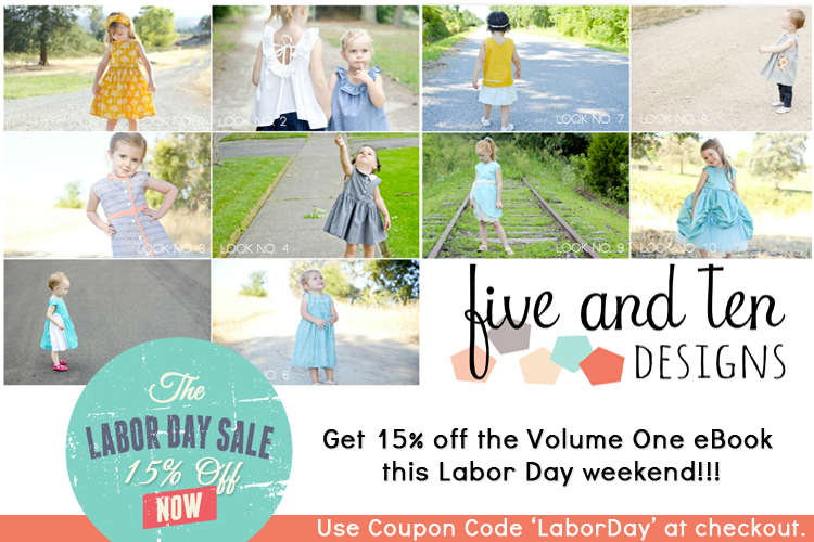 Five and Ten Designs Labor Day Coupon