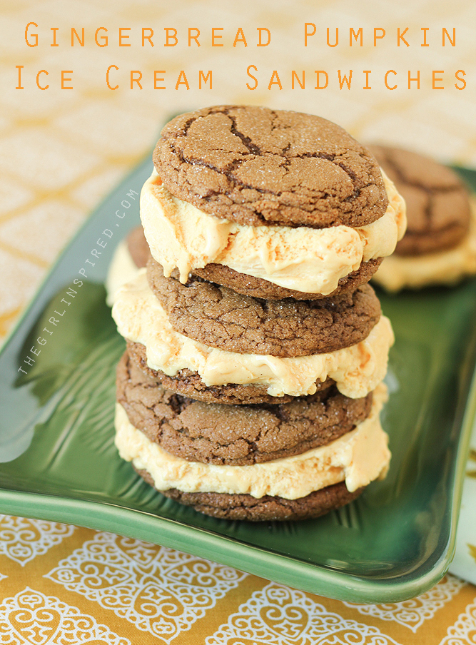 Gingerbread Cookie Recipe for Gingerbread Pumpkin ice cream sandwiches
