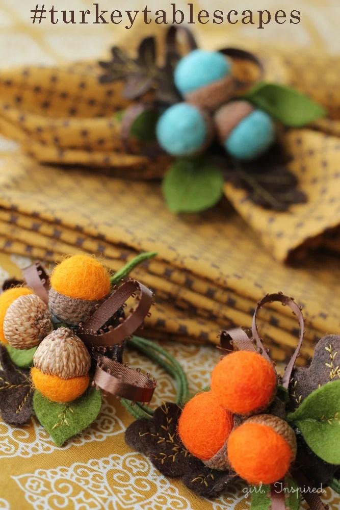 Autumn Acorn Napkin Rings #DIY