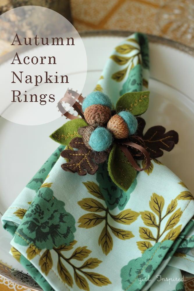 Autumn Acorn Napkin Rings - DIY