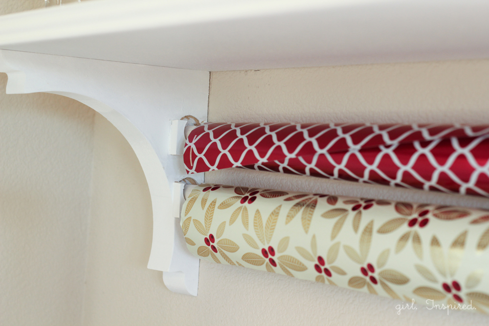 How to build a wrapping paper rack.