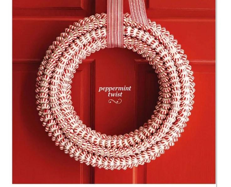 peppermint twist wreath