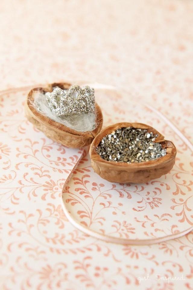 a Tiny Treasure Box made from a walnut