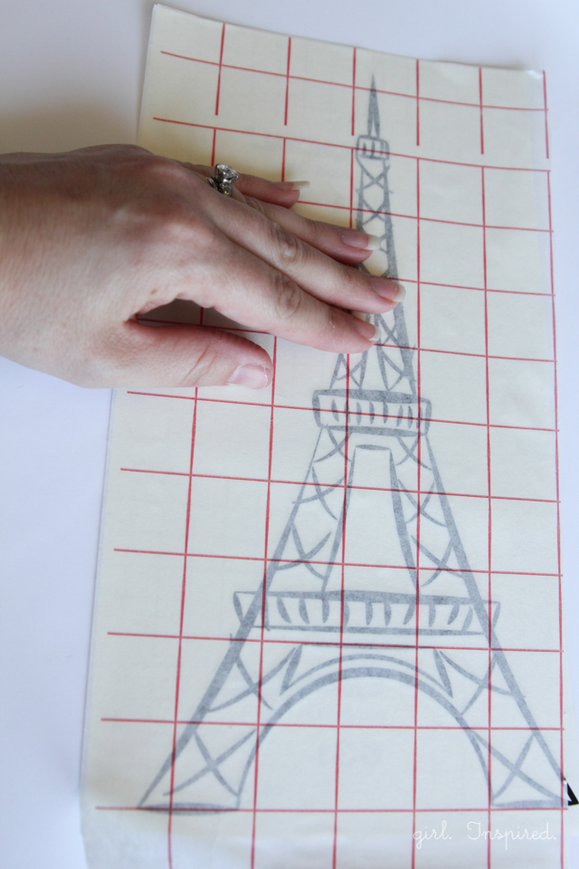 Eiffel Tower Vinyl Wallpaper - how to make your own