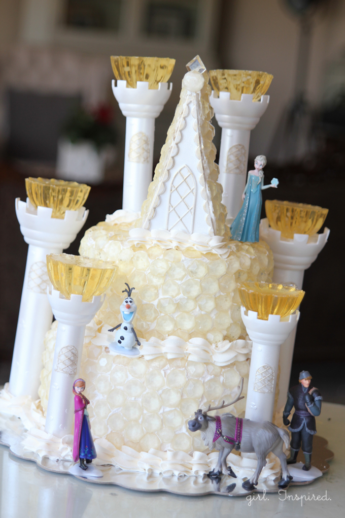 Frozen Birthday Party Cake - Ice Castle