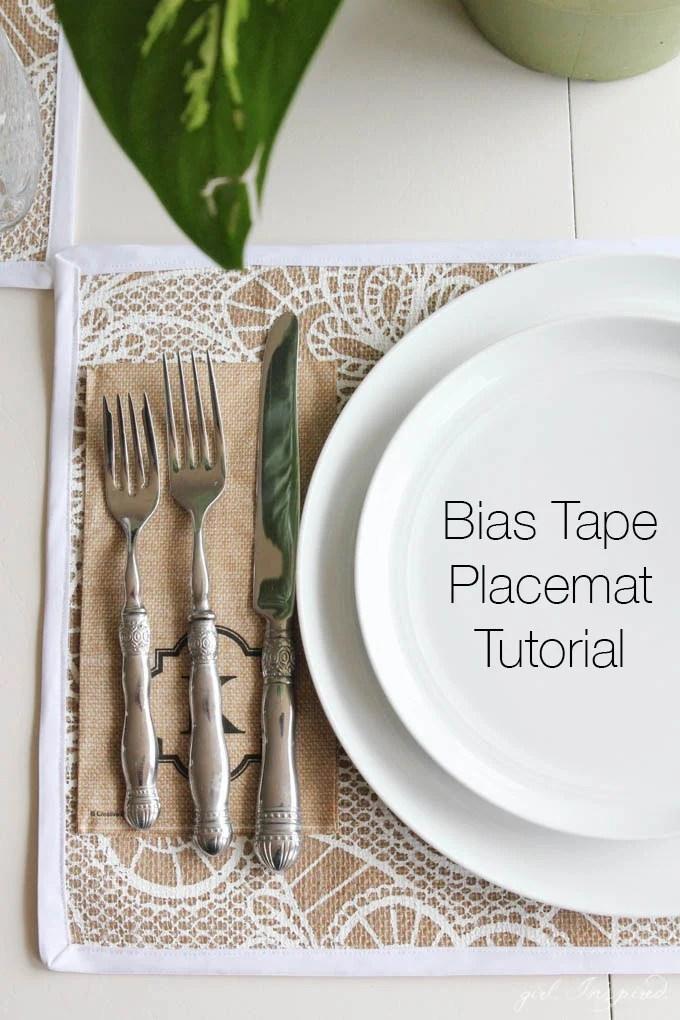 Bias Tape Placemat Tutorial