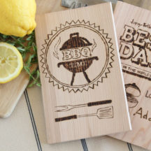 Personalized Cedar Planks - use a wood burning tool to create fun, unique gifts for dad!