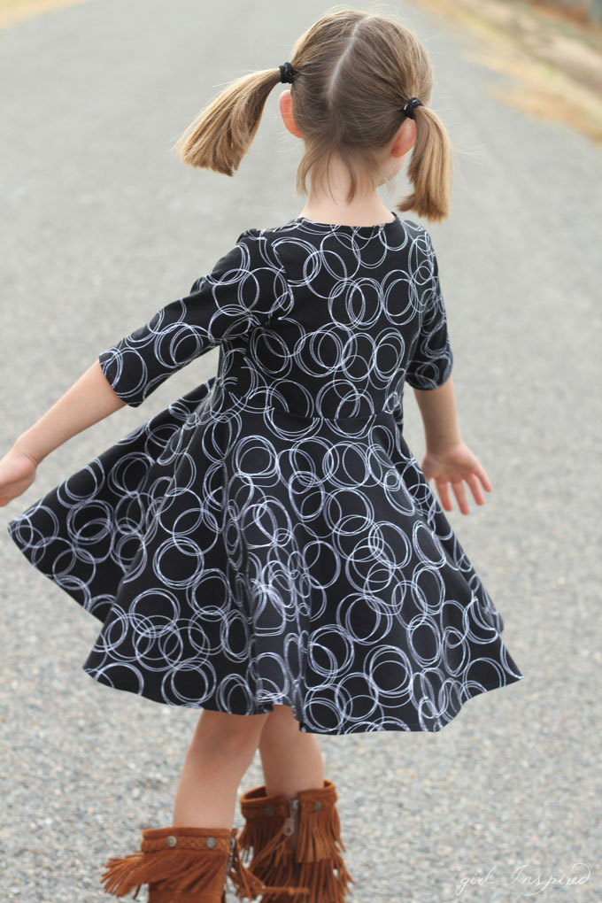 Three girls dress styles for Fall with the Four Corners fabric line!
