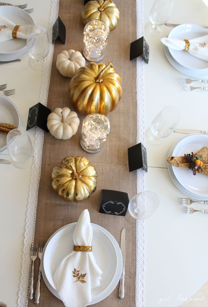 Add warmth and sparkle to your Thanksgiving table with these easy DIY Mason Jar Luminaries