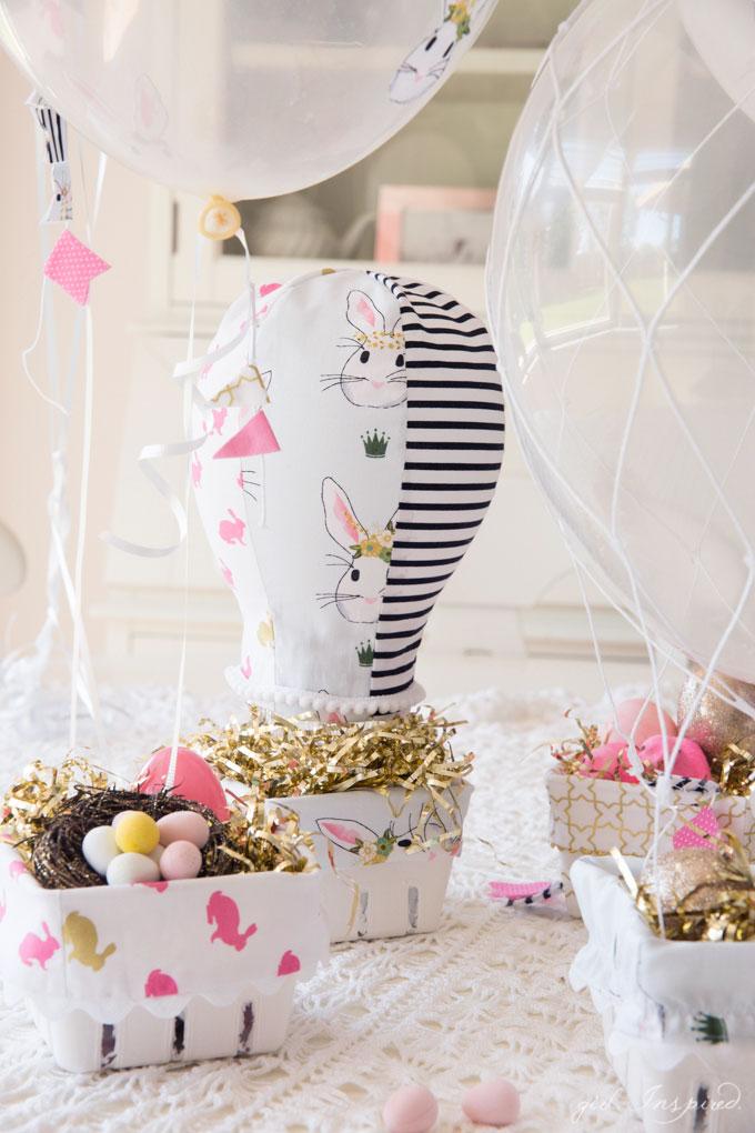 Hot Air Balloon Easter Baskets - the cutest idea for little treats!