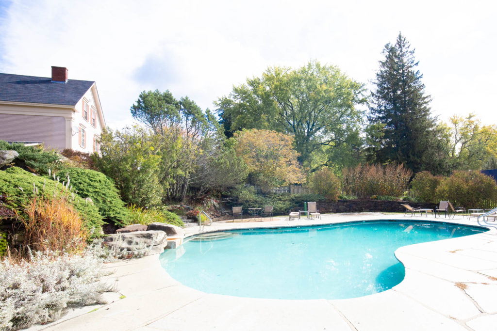 swimming pool at the Wildflower Inn