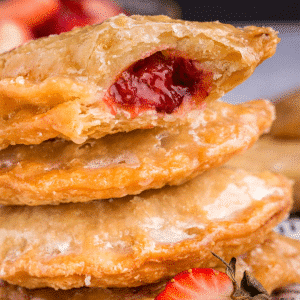 Stack of Strawberry Rhubarb Hand Pies,