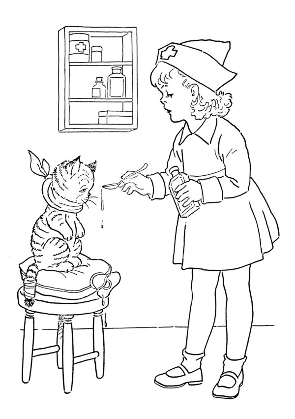 vintage coloring pages # 8