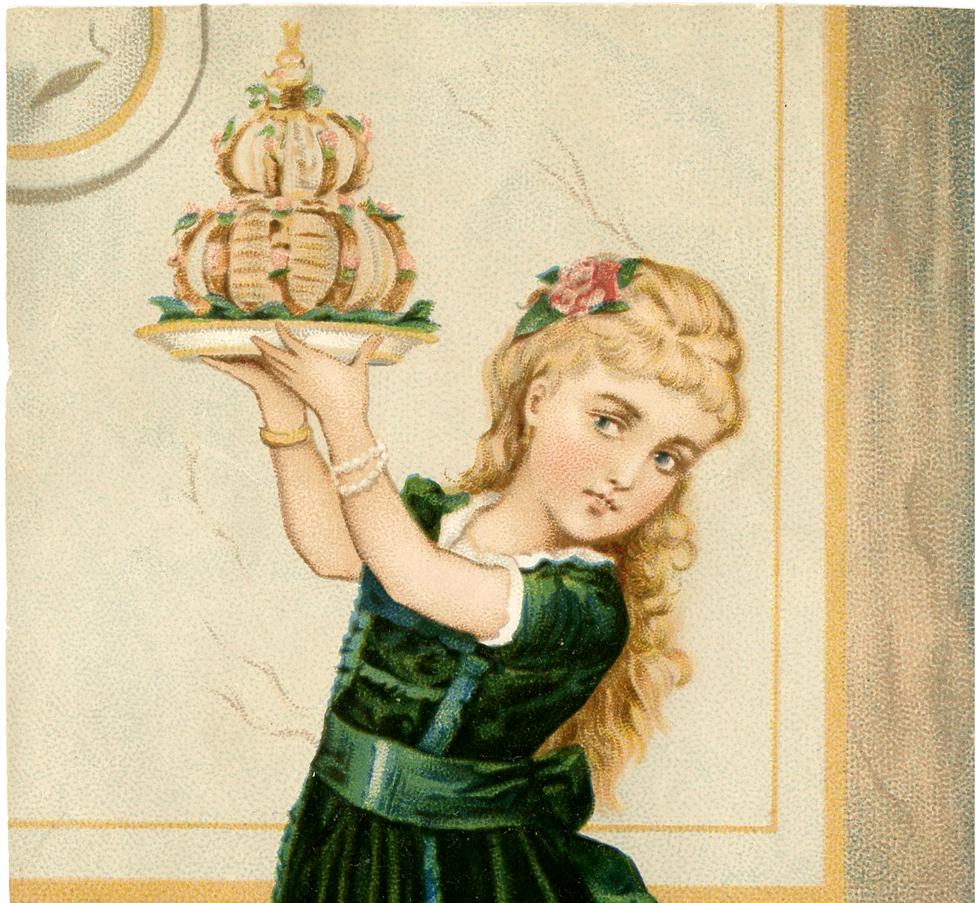 Clip Girl Art Cake