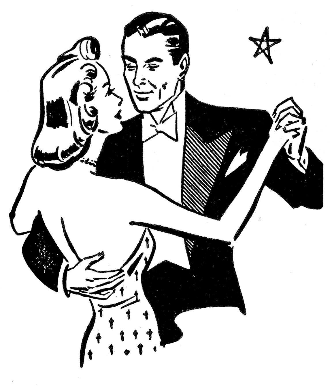 Art Valentine Black Vintage White And Clip