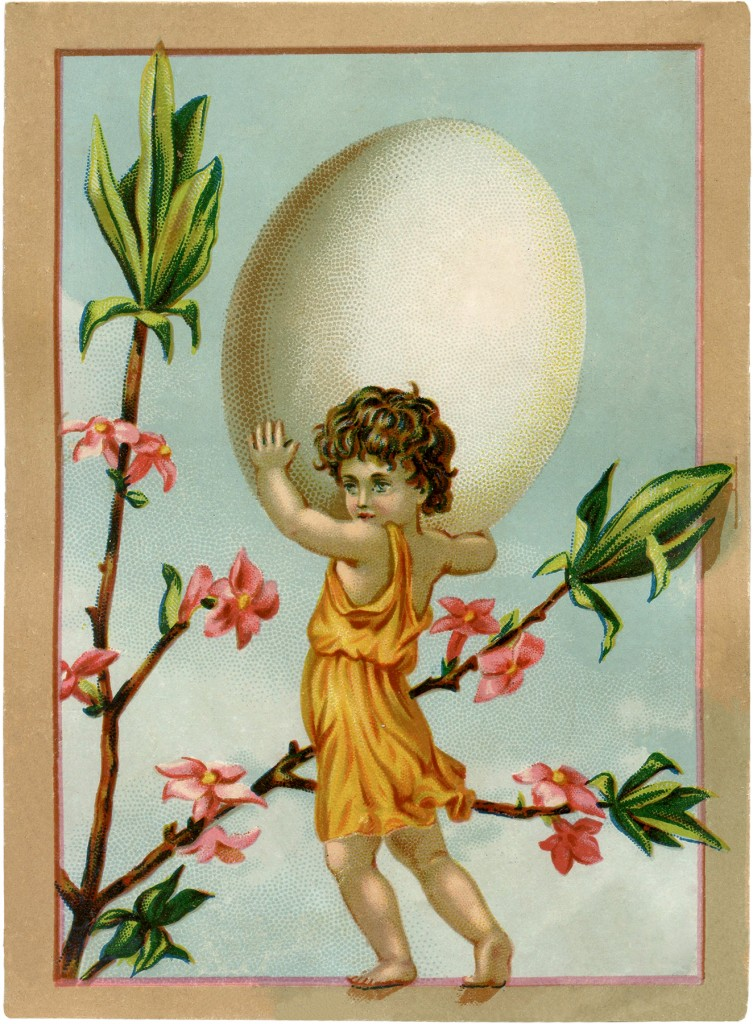Vintage Easter Egg Fairy Image The Graphics Fairy