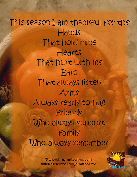 Thankful Poem Students