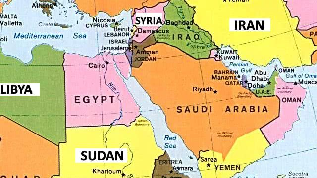 Countries Capital Cities Middle East