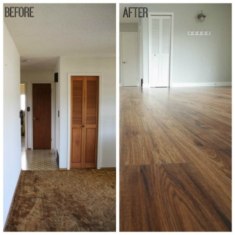 10 Great Tips for a DIY Laminate Flooring Installation   The Happy     DIY Laminate Flooring Installation Tips at thehappyhousie com