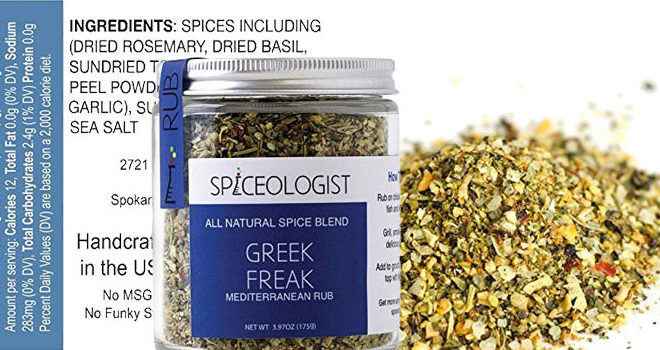 Spiceologist Greek Freak BBQ Rub and Seasoning, Mediterranean Spice Blend