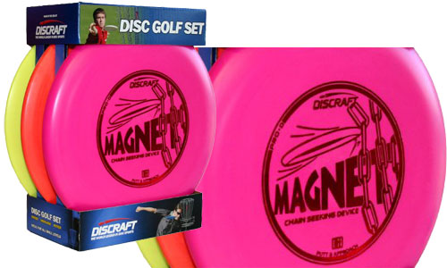 colorful 3-pack of frisbee discs