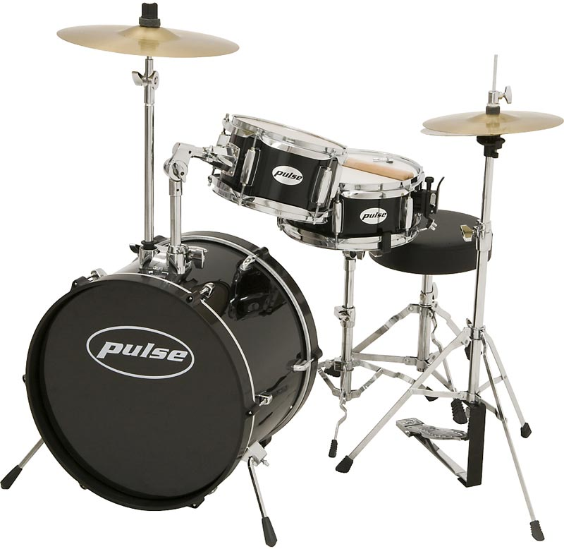 Guide to Buying Drums   Percussion Pulse 3 Piece Deluxe Junior Drum Set
