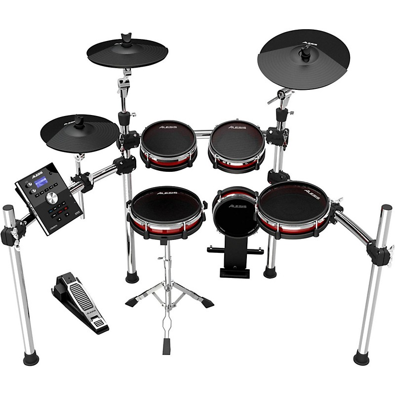 Buying Guide  How to Choose Electronic Drums   Sets   The HUB Alesis Crimson Electronic 5 Piece Drum Kit with Mesh Heads
