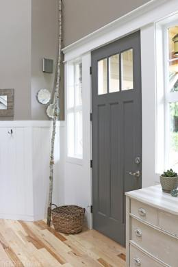 22 Gorgeous Painted Interior Doors that Aren t White   Postcards     gray interior painted door