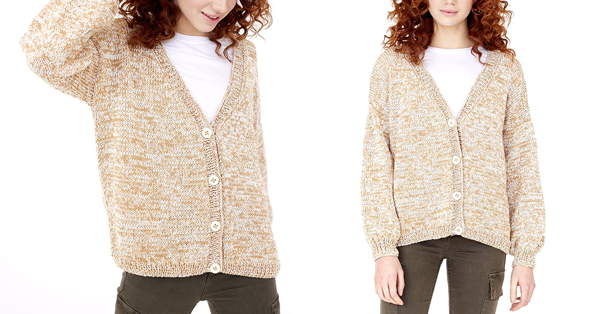 Fab Fave Knitted Cardigan Free Knitting Pattern