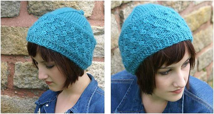 Stylishly Cool Knitted Cob Toque Free Knitting Pattern
