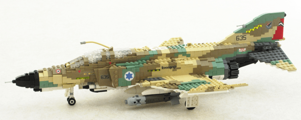 Lego F 4 Phantom   THE LEGO CAR BLOG 1010      402 in Israeli Air      Lego F 4E Kurnass Phantom