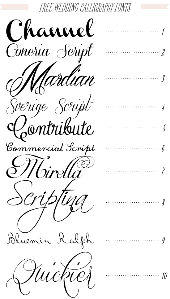 free wedding fonts # 12