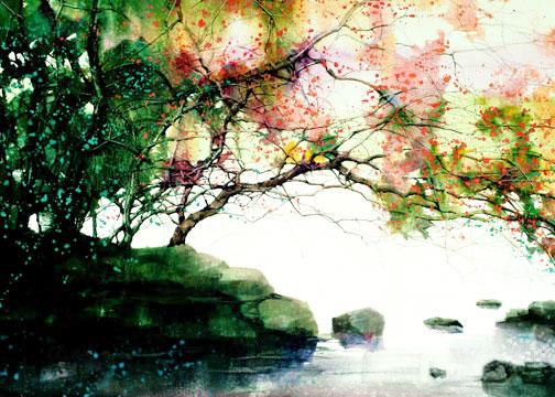 Art Spotting: Wondrous Watercolor Landscapes by Z.L. Feng ...