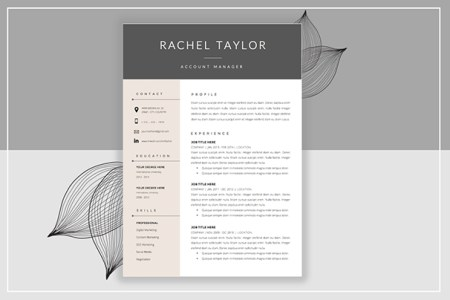 50  CV   Resume   Cover Letter Templates for Word   PDF 2017 resume template cover letter
